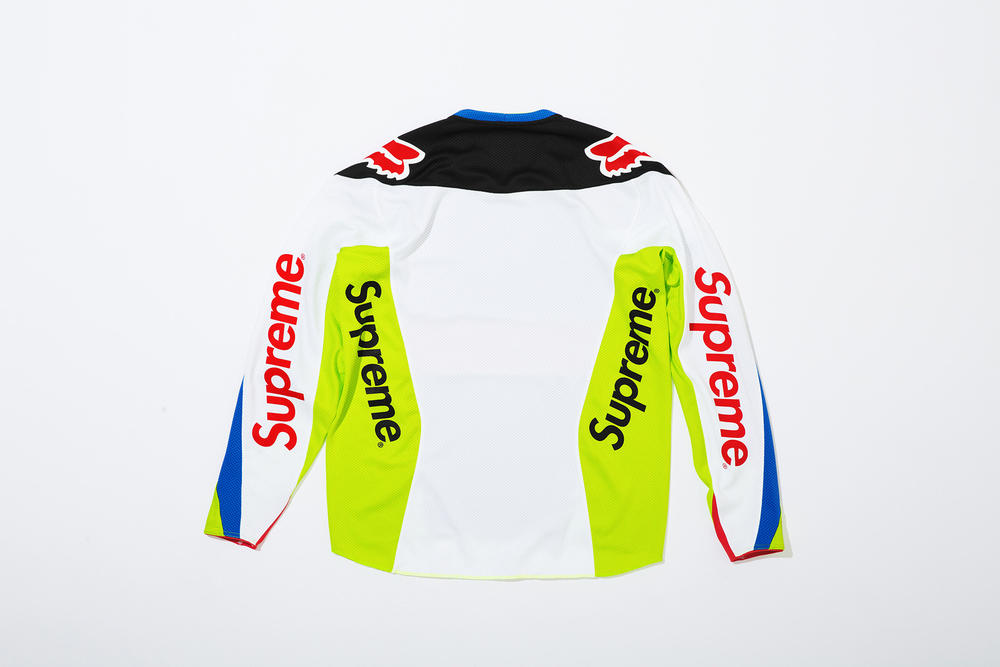 Supreme x Fox Racing Moto Jersey Top Blue Back