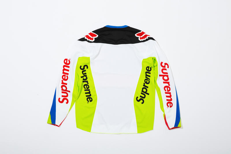 Supreme x Fox Racing Moto Jersey Top Blue Back