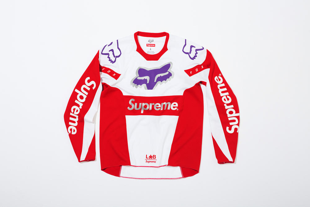 Supreme x Fox Racing Moto Jersey Top Red Front
