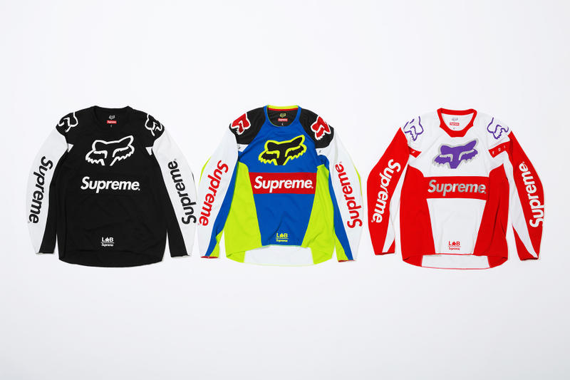 Supreme x Fox Racing Moto Jersey Group Shot