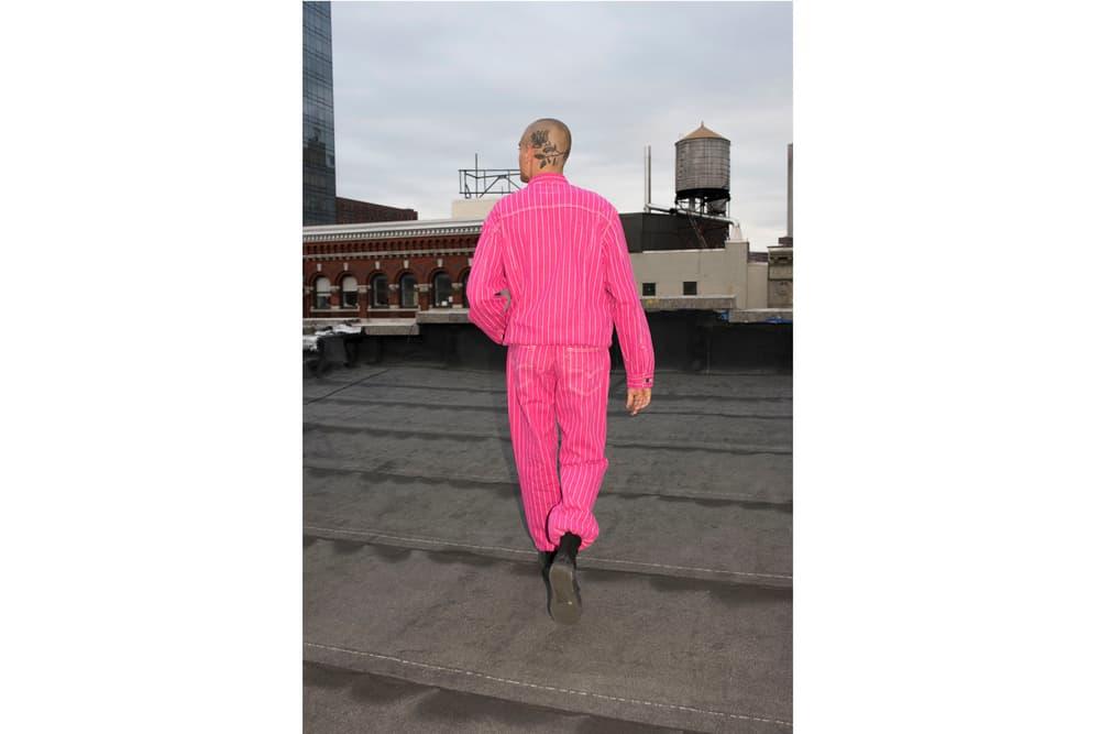 Supreme x Levi's Trucker Jacket pink lookbook
