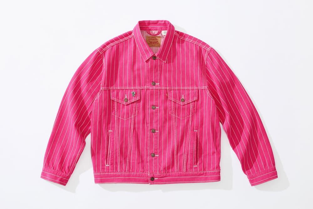 Supreme x Levi's Trucker Jacket pink
