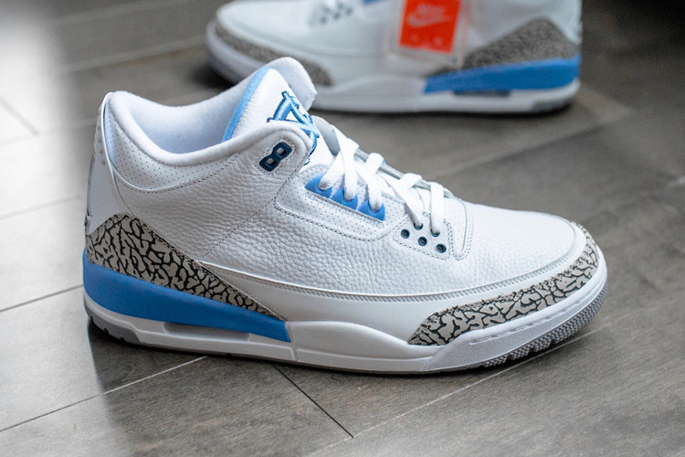 "20d513787ec Take a Detailed Look at the Friends & Family Air Jordan 3 ""UNC"". Footwear"