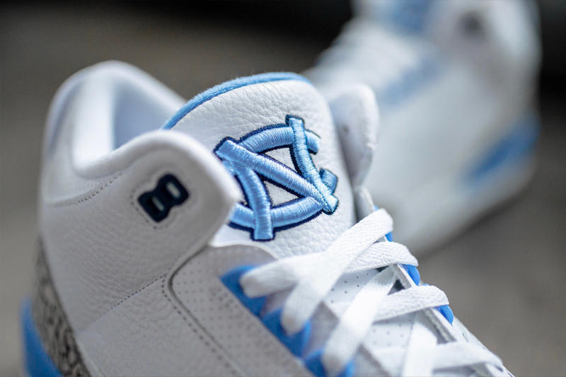 "Air Jordan 3 ""UNC"" PE Detailed Look Friends and Family University of North Carolina Brand"