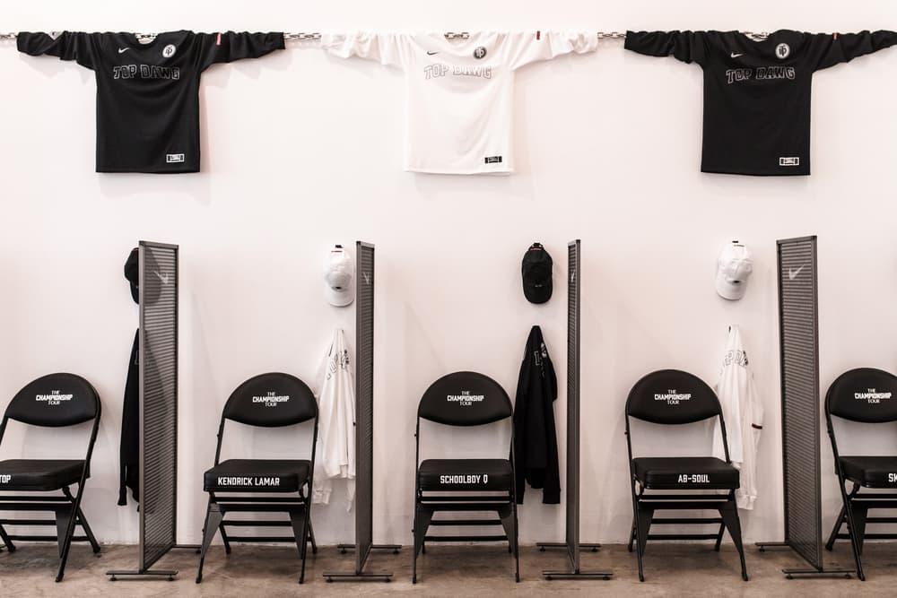 Kendrick Lamar DAMN TDE Nike Championship Shop Blends in Los Angeles