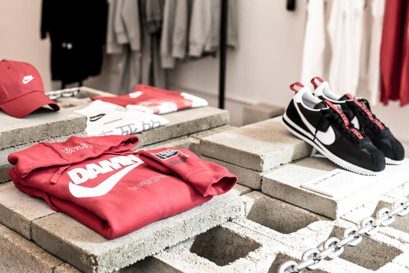 Kendrick Lamar DAMN TDE Nike Championship Shop Blends in Los Angeles