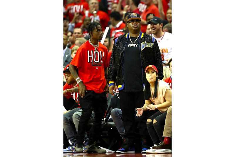 Travis Scott Sports Air Jordan 4 Dark Grey jordan brand nba houston rockets golden state warriors