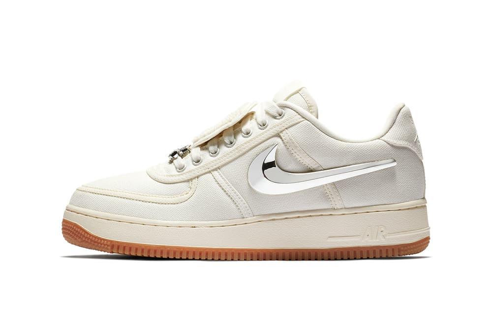 Travis Scott Nike Air Force 1 Sail 2018 nike sportswear footwear release date info drop