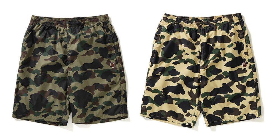 0c2d199063 BAPE 1ST CAMO Beach Shorts Release | HYPEBEAST