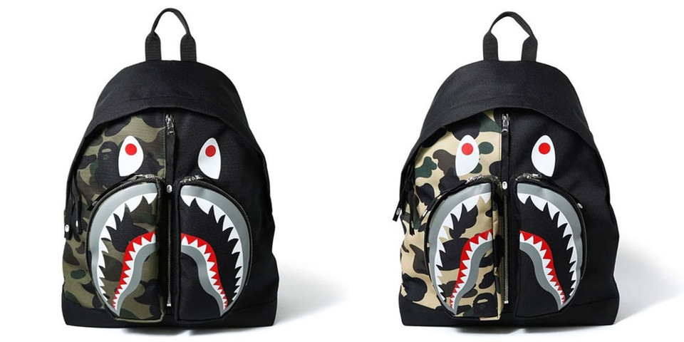 Bape Shark Backpack >> Bape 1st Camo Shark Backpack Release Hypebeast