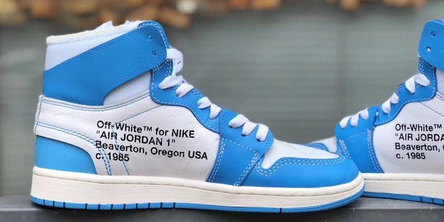 """23ae1b08a15 Virgil Abloh x Air Jordan 1 """"UNC"""" Detailed Look"""