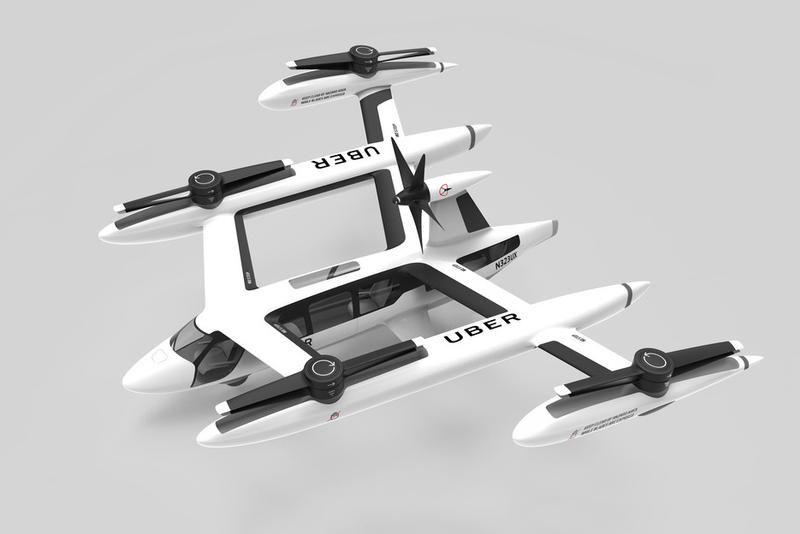 Uber Flying Taxi Prototype may 2018