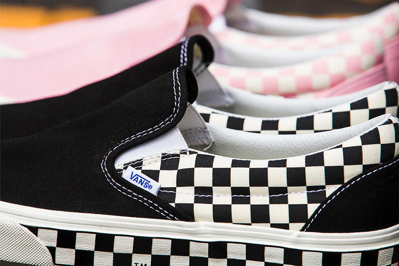 a7166c500cd Vans Classic Slip On Checkered Sidewall Pack BILLYS Exclusive may 2018  release date info drop sneakers