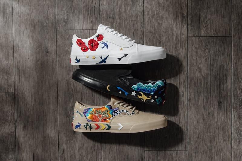 00550db5d8 Vans Summer Desert Embellish Pack embroidery White Black Tan 2018 release  date info drops sneakers footwear