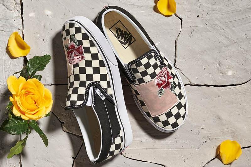 Vans Satin Patchwork Pack Authentic Slip-On Sk8-Hi embroidery floral sneakers footwear