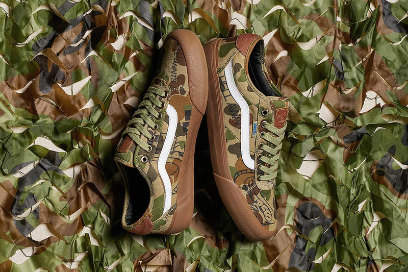 Vans x Supply Chima Pro 2 Camoflague Sneakers Kicks Shoes Trainers New Colorway Chima Ferguson Collaboration Graphics Doodles Inspired Girlfriend Dog Camo Upper Leather Tongue Patch Debossed Detailing White Side Stripe Gum Rubber Duracap Midsole Outsole Skate Sessions