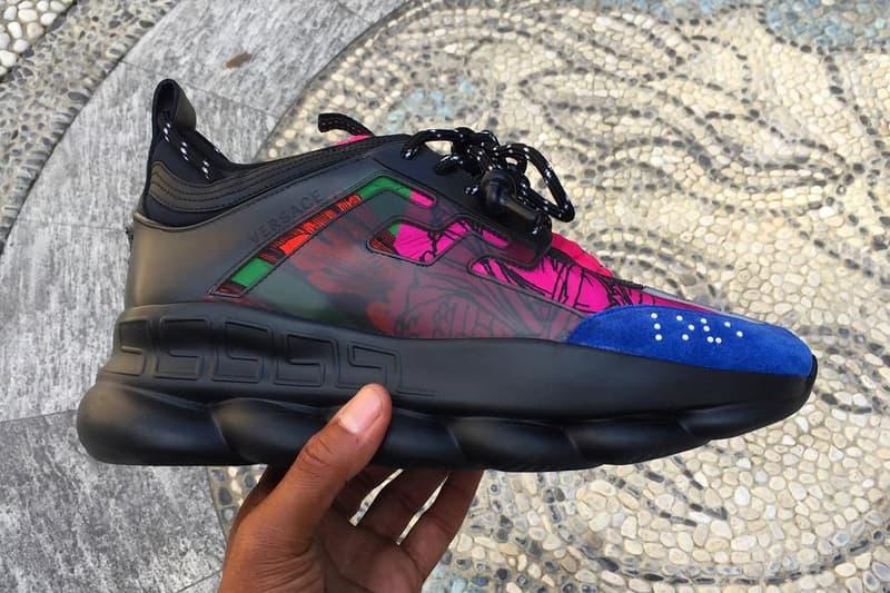 a760cbf589302 Versace Spring Summer 2019 Chain Reaction sneaker release date info drop shoes  footwear