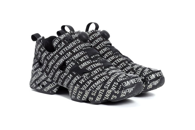 2b6ad86766a4 Vetements Reebok InstaPump Fury Monogram pack First Look Black White  release date price purchase