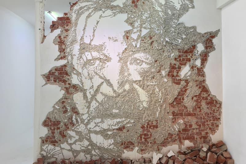 vhils urban fragments cent quare paris france relief portraits sculptures art artworks exhibitions