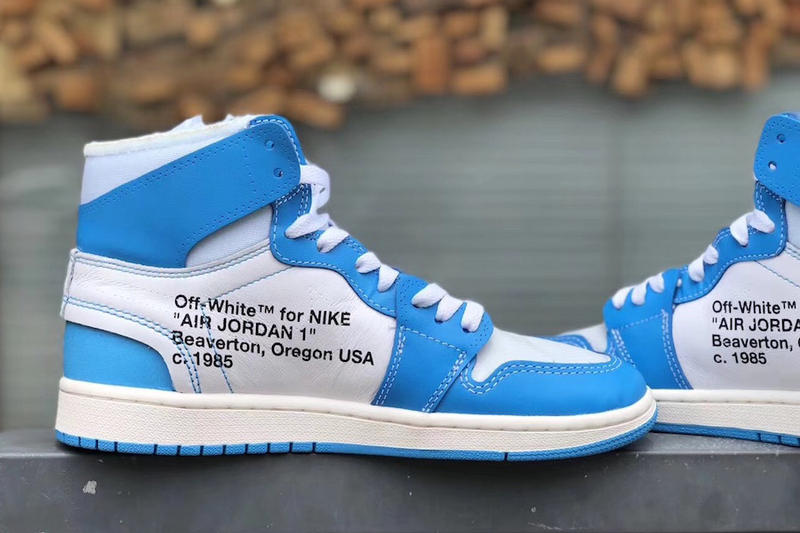 b36254c0ade Virgil Abloh Air Jordan 1 UNC Detailed Look Brand Nike Off White University  of north Carolina