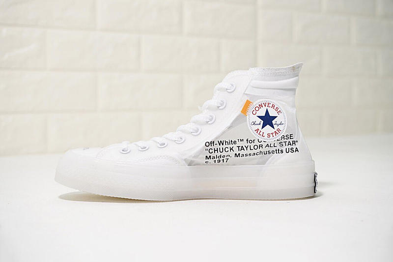 270d52fb7a38 Virgil Abloh Converse Chuck 70 Nike The Ten White Translucent Resale How to  Buy Purchase Details