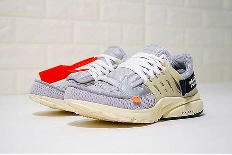 b63af6b8e18e Virgil Abloh Nike Air Presto Grey off-white first look sneakers footwear