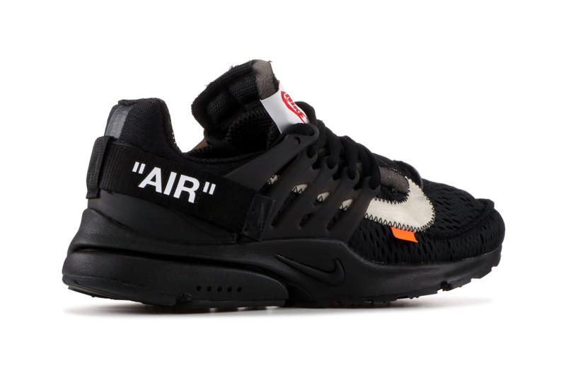 Virgil Abloh Nike Air Presto Polar Opposites Pack Black White Closer Look Detailed Look Flight Club Runners Off White