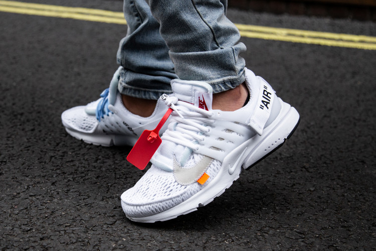 size 40 96f9a 71797 An On-Foot Look at Virgil Abloh s White Nike Air Presto Collaboration