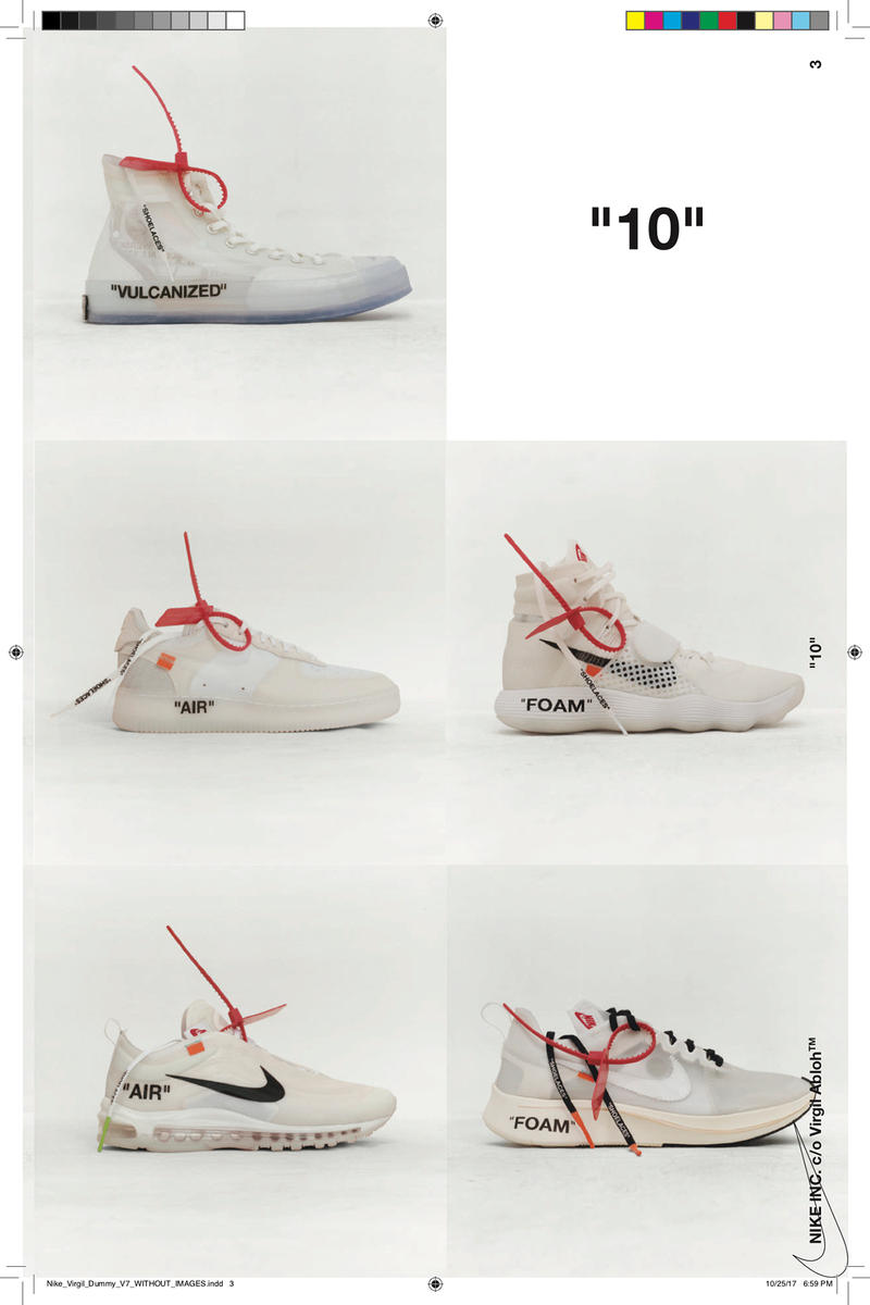 "Virgil Abloh x Nike ""TEXTBOOK"" Download Available Link The Ten Reconstructed"