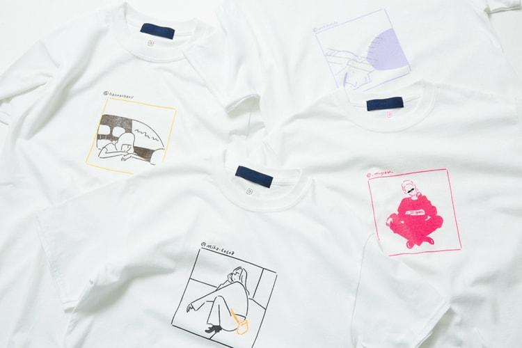 95e9e3c4f Yu Nagaba Doodles Japanese Models on Tees for BEAMS