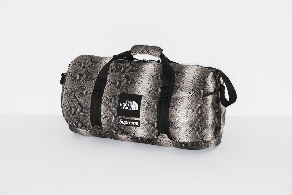 Supreme The North Face Snake Print Flyweight Duffle Bag Spring Collection