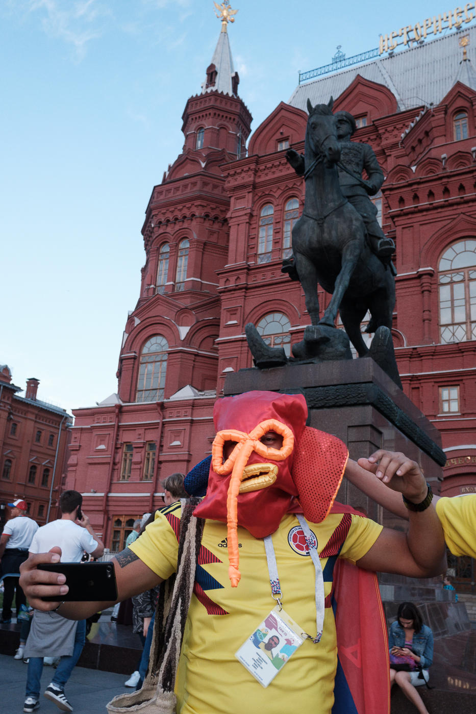 2018 Fifa World Cup Russia Photo Streetsnaps Moscow Manezhnaya square Nikolskaya street football soccer sports travel Mexico Argentina  England Croatia Egypt Nigeria Spain Portugal France Iceland Sweden Germany Serbia