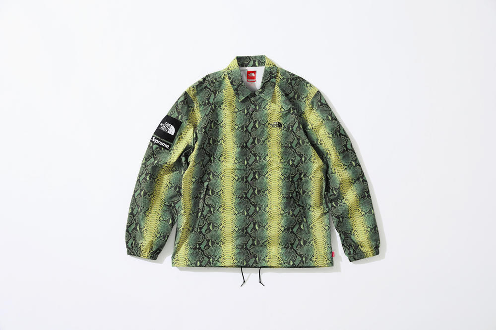 Supreme The North Face Snake Print Coach Jacket Spring Collection