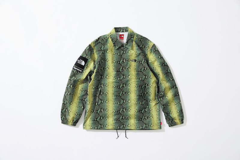 e278883bdcc Supreme The North Face Snake Print Coach Jacket Spring Collection