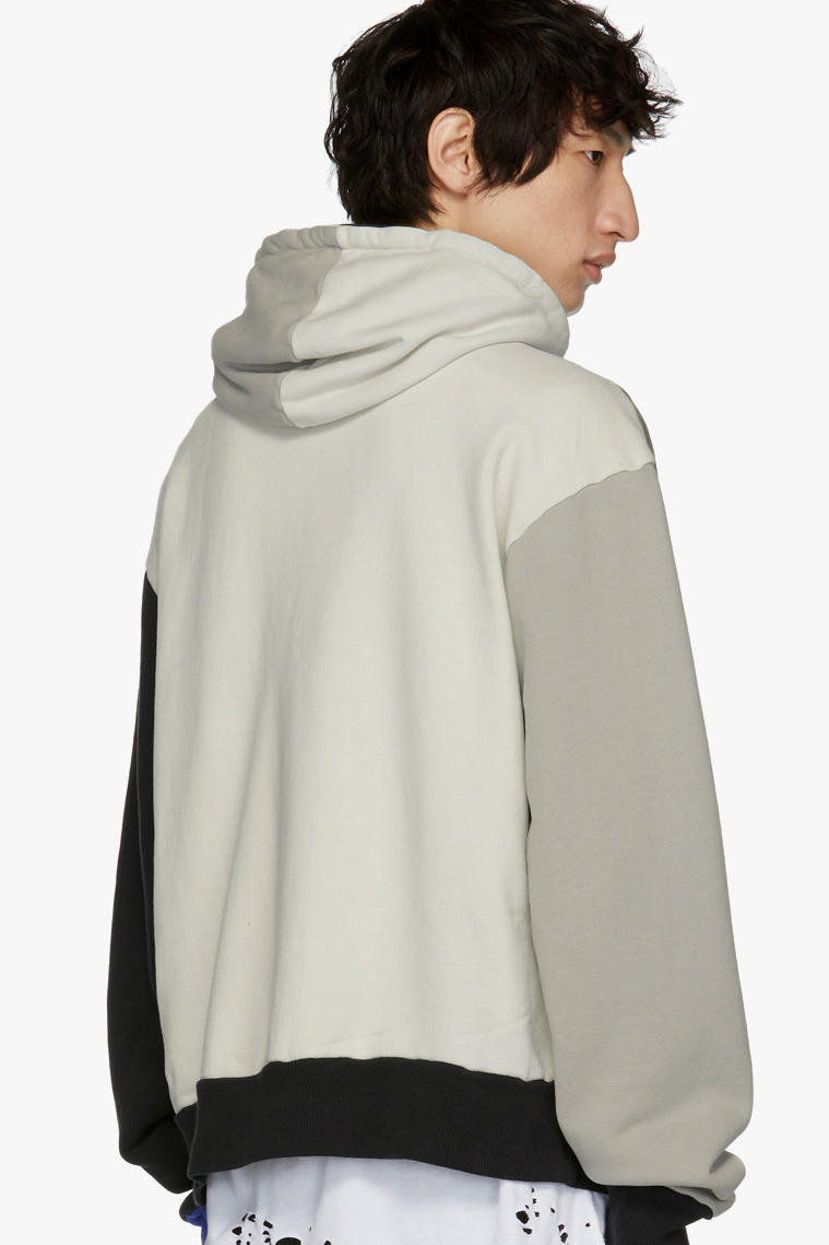 424 Colorblocked Hoodie SSENSE exclusive release info grey black blue guillermo andrade