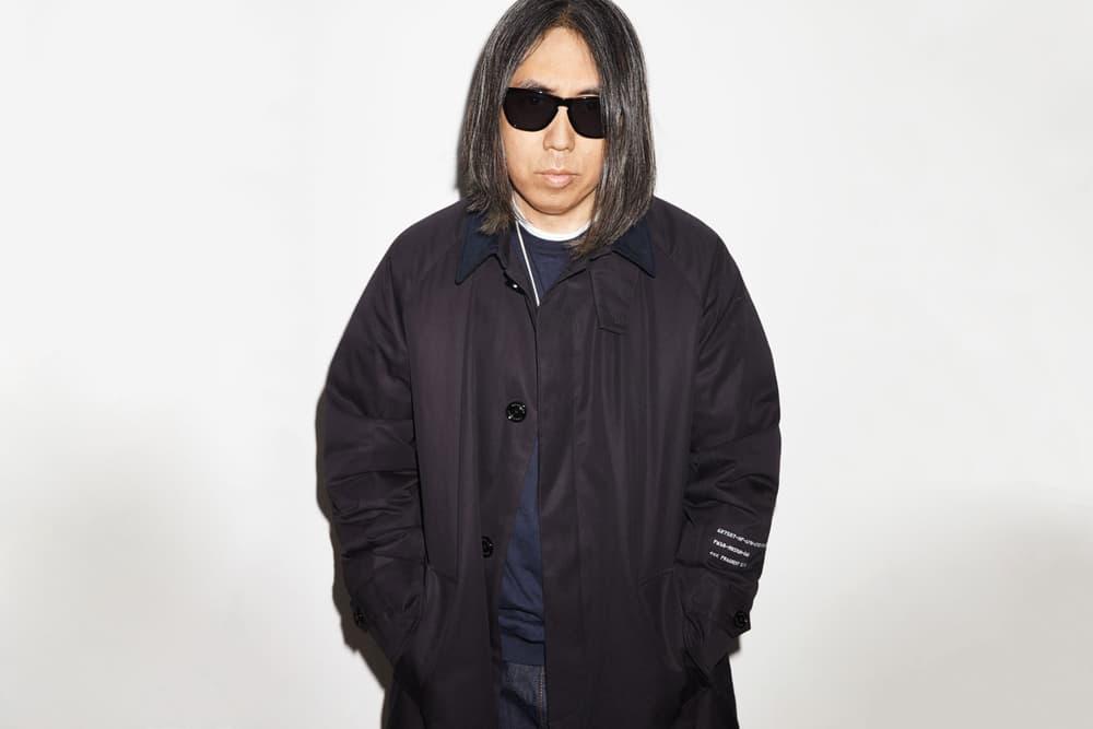 7 moncler fragment design hiroshi fujiwara collaboration black jacket sweater necklace sunglasses white tee shirt