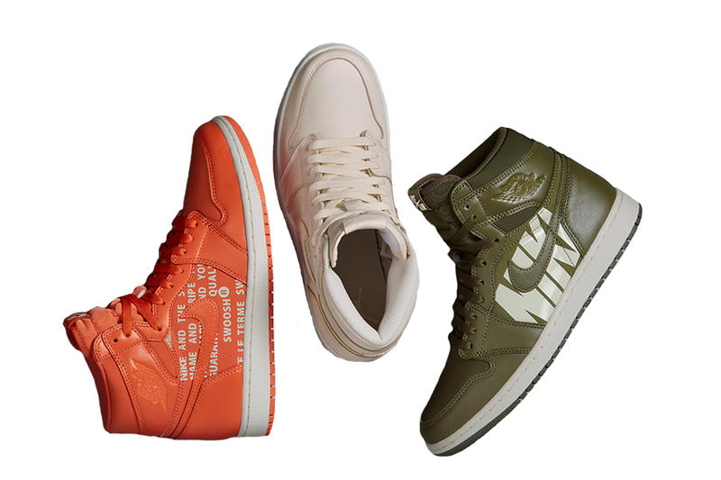 "Air Jordan 1 High OG ""Nike Air"" Pack olive orange beige sneaker 2018"