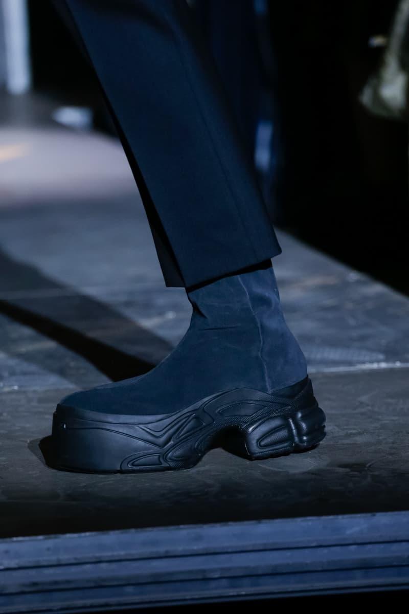 adidas by Raf Simons Spring/Summer 2019 Footwear sneakers leather platform boot Ozweego Detroit Runner paris fashion week runway