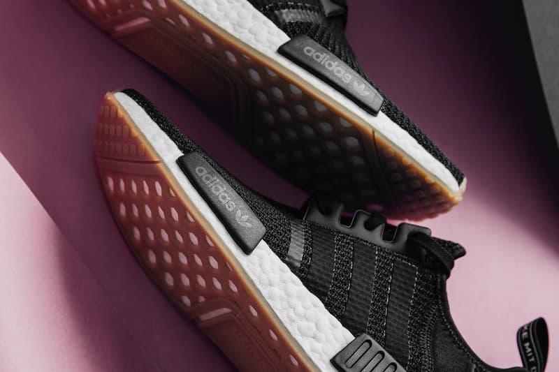 adidas originals NMD R1 Black Gum release info sneakers footwear