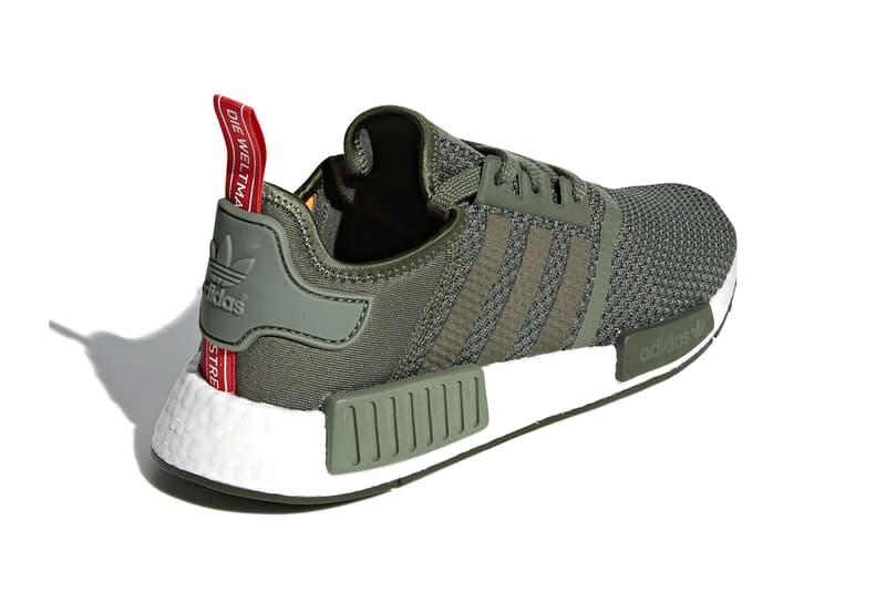 adidas NMD R1 olive black release info sneakers footwear summer 2018