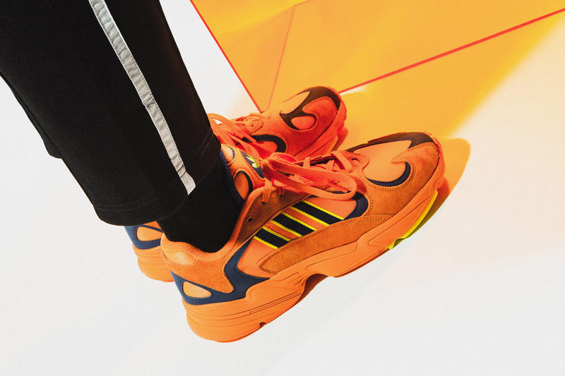 adidas Originals YUNG-1 Closer Look On-Foot Kicks Shoes Trainers Sneakers Orange White Navy Chunky Sneaker Dad Shoe