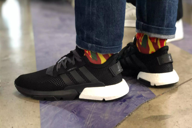 Pharrell adidas P.O.D. S3.1 Friends & Family black white launch event sneakers footwear BOOST