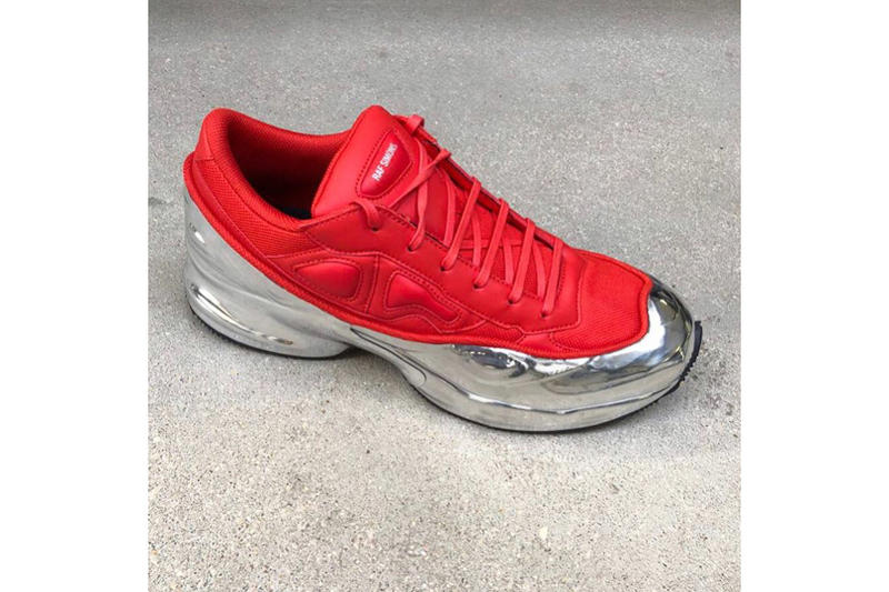 adidas by raf simons silver ozweego red