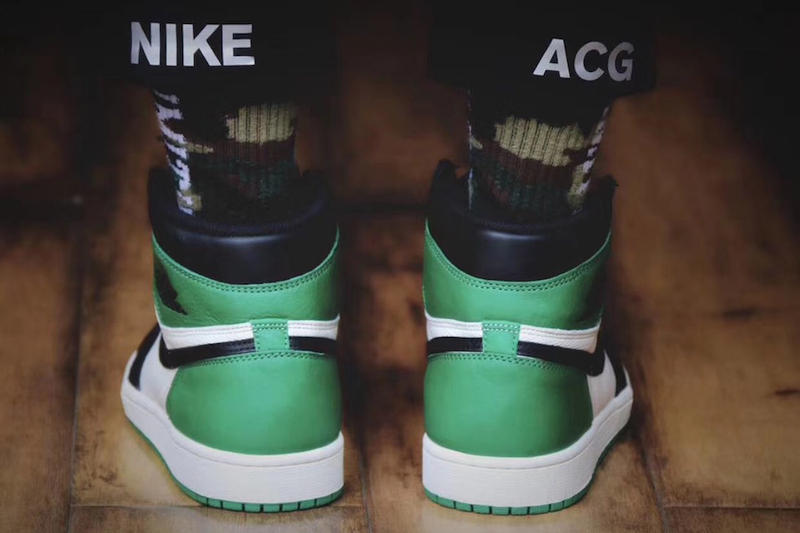 0bbe31dbe9d3da Air Jordan 1 High Pine Green jordan brand sail black release info sneakers  footwear