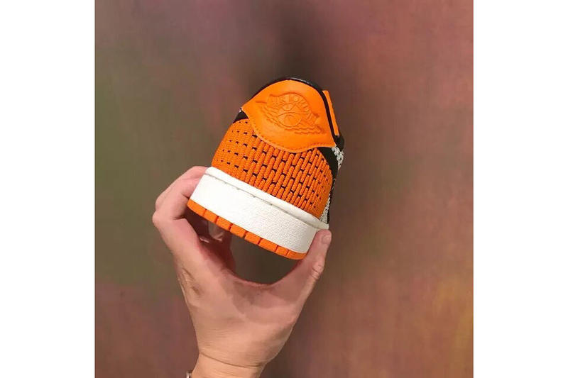 Air Jordan 1 Low flyknit Shattered Backboard colorway First Look China black orange white Michael Jordan footwear sneaker