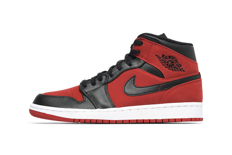"new arrival 92b93 ed96a Air Jordan 1 Mid Gets Hit With A ""Bred"" Makeover 