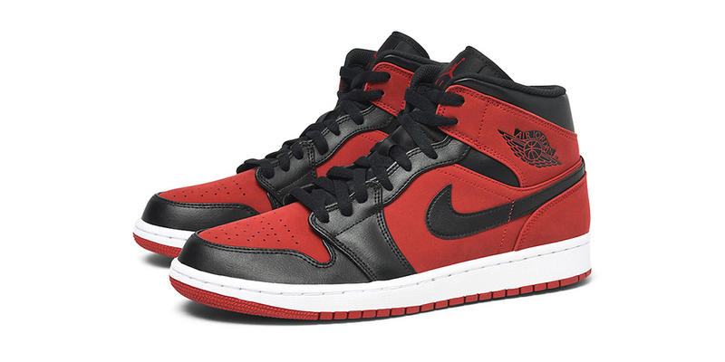 3fc7255001a3a Air Jordan 1 Mid Bred red black white release info sneakers footwear