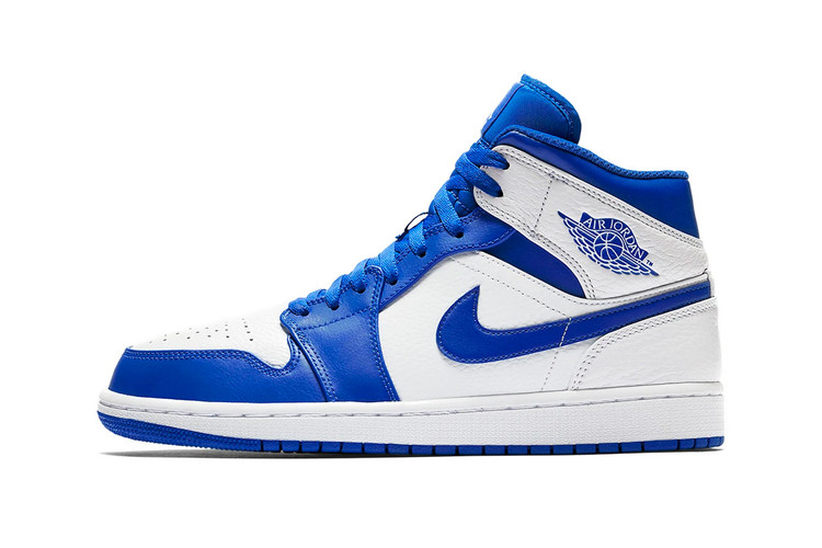 "5e0da6ffa6c Jordan Brand Remakes the Air Jordan 1 Mid In ""Hyper Royal"""
