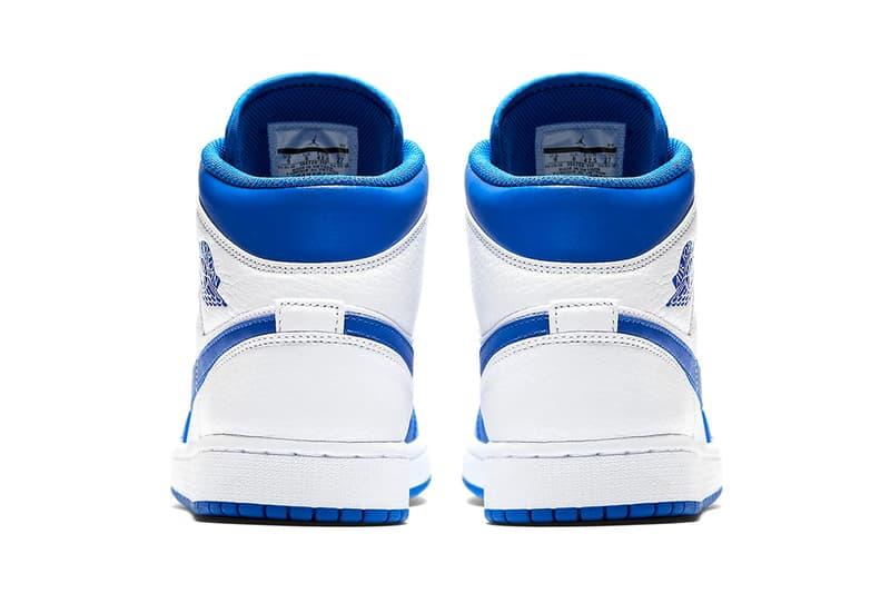 Jordan Brand Air Jordan 1 Mid Hyper Royal white release info sneakers footwear