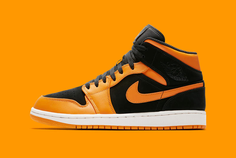 34836d7f16fd Air Jordan 1 Mid Orange Peel Release Shattered Backboard Black Toe